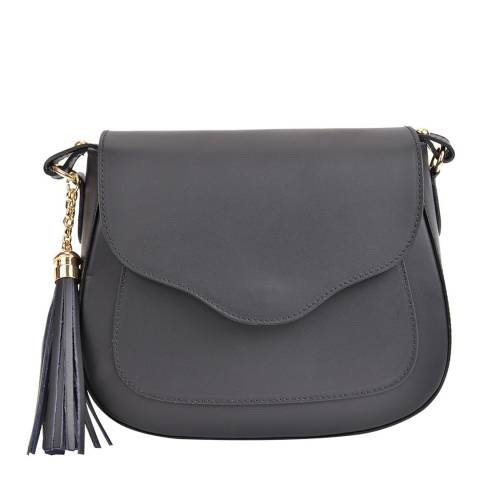 Mangotti Black Tassel Flap Saddle Bag