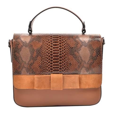 Mangotti Rust Snake Print Tote Bag