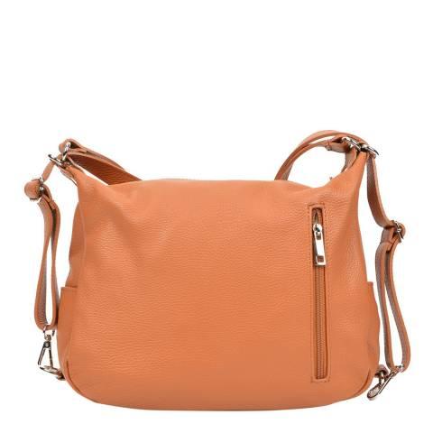 Mangotti Cognac Leather Shoulder Bag