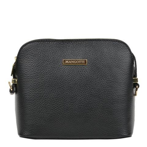 Mangotti Bags Black Leather Crossbody Bag