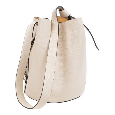 Mangotti Bags Beige Leather Drawstring Bag