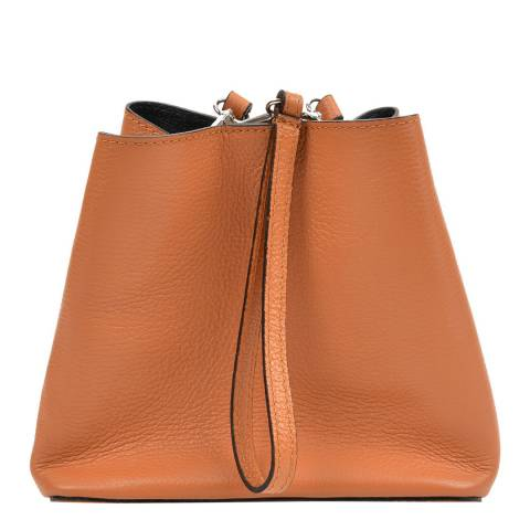 Mangotti Brown Leather Bucket Bag