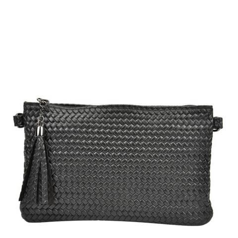 Mangotti Black Woven Shoulder Bag