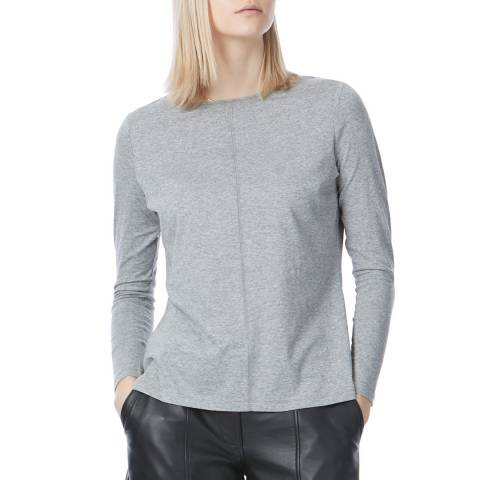 N°· Eleven Grey Marl Cotton Long Sleeve T Shirt