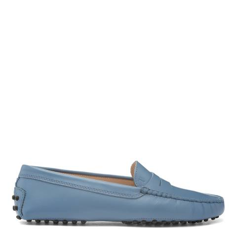Tod's Blue Horizon Leather Gommino Moccasin