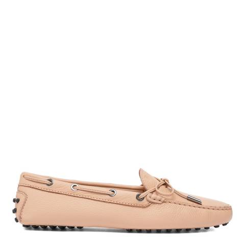 Tod's Pink Leather Heaven Laccetto Driving Shoe