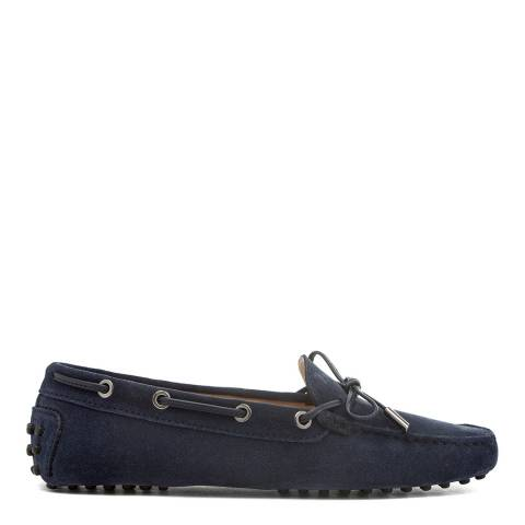 Tod's Navy Galaxy Suede Heaven Laccetto Shoe