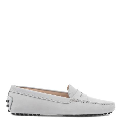 Tod's Grey Leather Gommino Moccasin