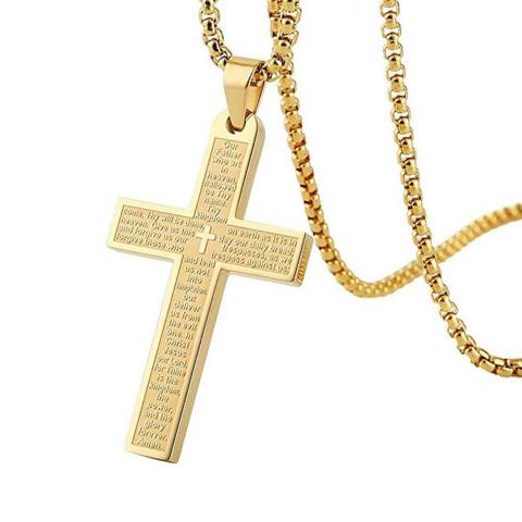 Stephen Oliver Gold Plated Cross Necklace
