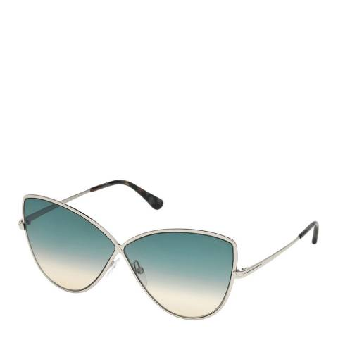 Tom Ford Women's Silver Tom Ford Sunglasses 65mm