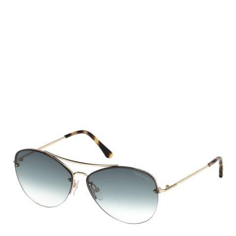 Tom Ford Women's Gold Tom Ford Sunglasses 60mm
