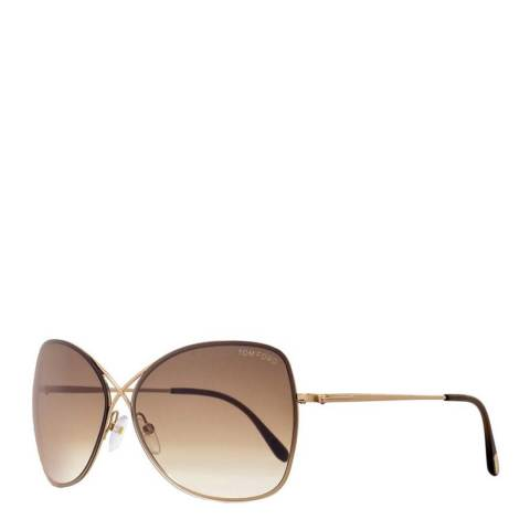 Tom Ford Womens Brown/Gold Pilot Sunglasses 61mm