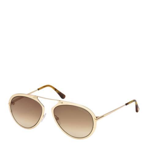 Tom Ford Men's Gold Sunglasses 55mm