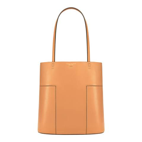 Tory Burch Aged Vchetta Block-T Medium Tote Bag