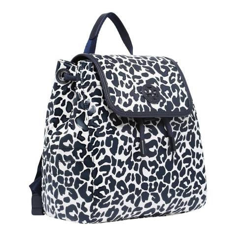 Tory Burch Leopard Scout Printed Nylon Small Backpack