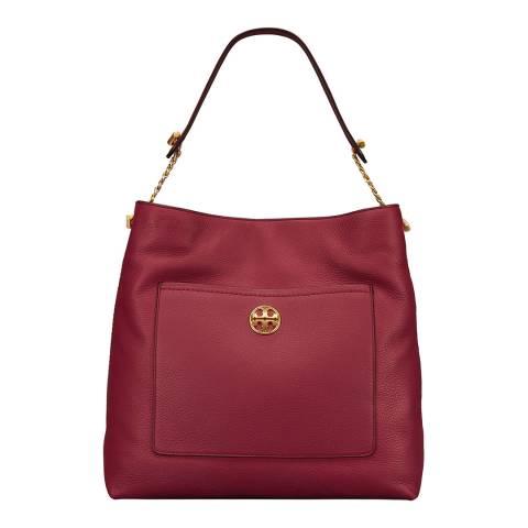 Tory Burch Red Chelsea Chain Hobo Bag