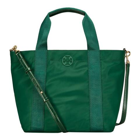 Tory Burch Malachite Quinn Small Zip Tote