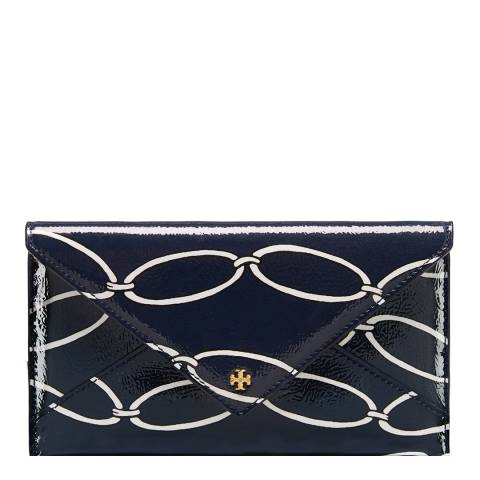 Tory Burch Elliptical Link Printed Chain Leather Envelope