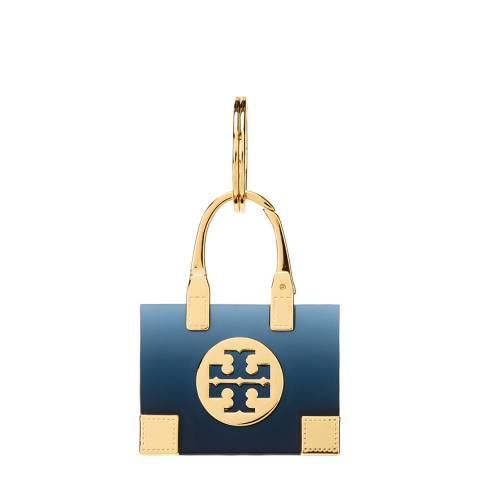 Tory Burch Navy Ella Tote Key Fob