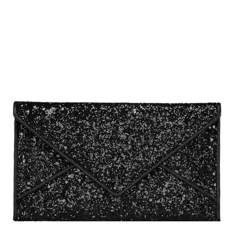 Tory Burch Black Glitter Envelope Pouch