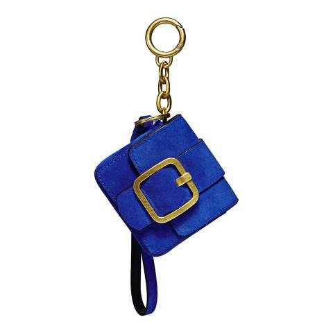 Tory Burch Blue Sawyer Mini Bag Key Fob