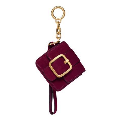 Tory Burch Red Sawyer Mini Bag Key Fob