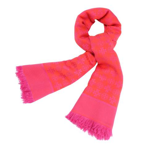 Tory Burch Hibiscus Traveler Oversized Square Scarf