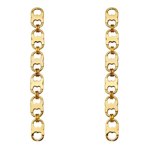 Tory Burch Gold Gemini Link Linear Earrings