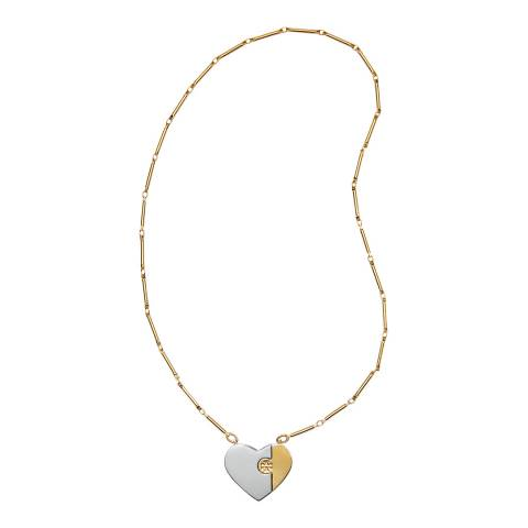 Tory Burch Gold Puzzle Heart Necklace