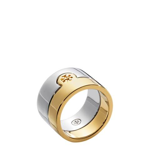 Tory Burch Silver/Gold Puzzle Ring