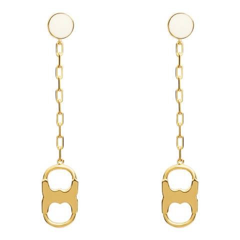 Tory Burch Ivory Gemini Link Drop Earring