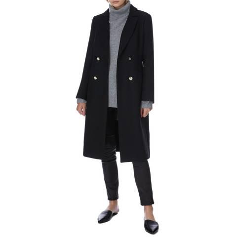 N°· Eleven Black Wool Blend Military Coat