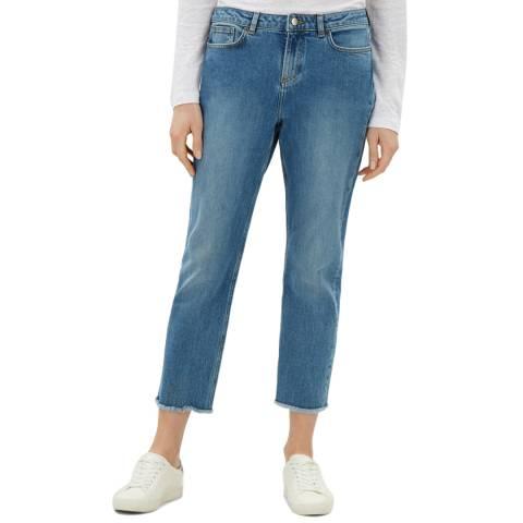 Jaeger Light Blue Frayed Hem Jeans