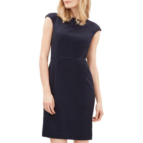 Jaeger Navy Cap Sleeve Dress
