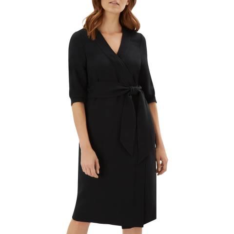 Jaeger Black Wrap Dress