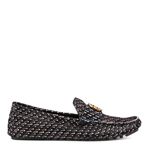 Tory Burch Raven Geo Gemini Link Driving Loafers