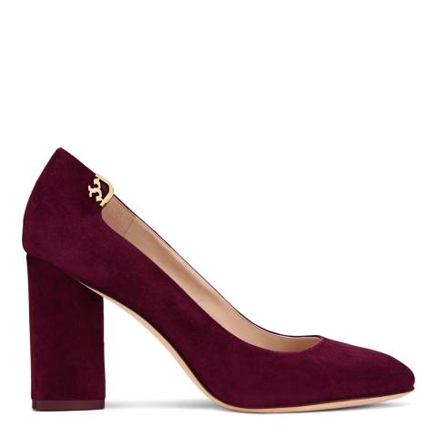 Tory Burch Port Suede Elizabeth Block Heels