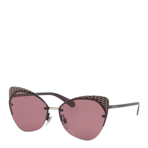Bvlgari Women's Brown/Pink Bvlgari Sunglasses 58mm