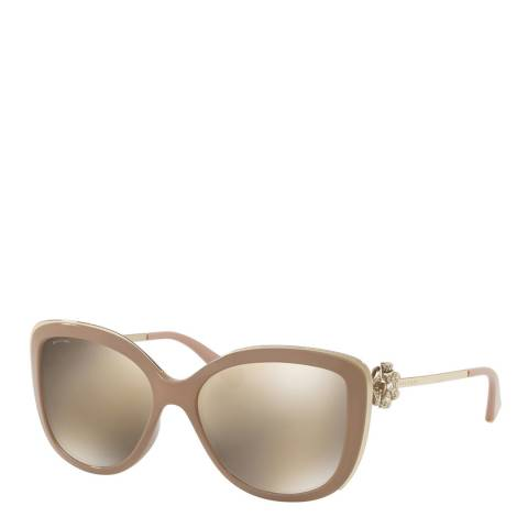 Bvlgari Women's Beige Sunglasses 57mm
