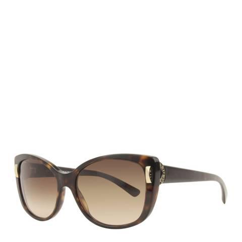 Bvlgari Women's Tortoise Sunglasses 57mm