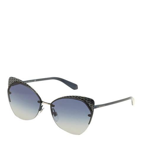 Bvlgari Women's Black/Blue Bvlgari Cat Eye Sunglasses 58mm