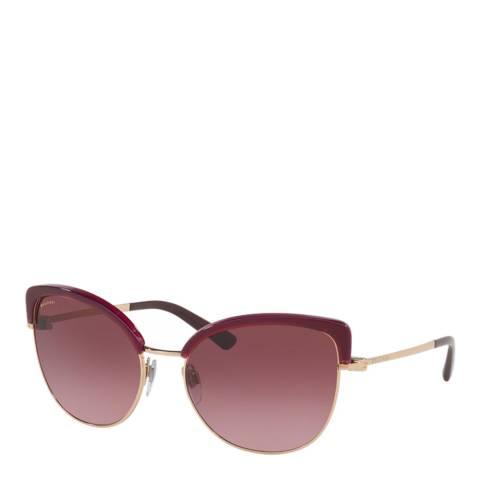 Bvlgari Women's Red Bvlgari Sunglasses 58mm