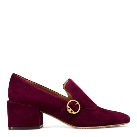 Tory Burch Port Suede Tess Low Block Heel Loafers