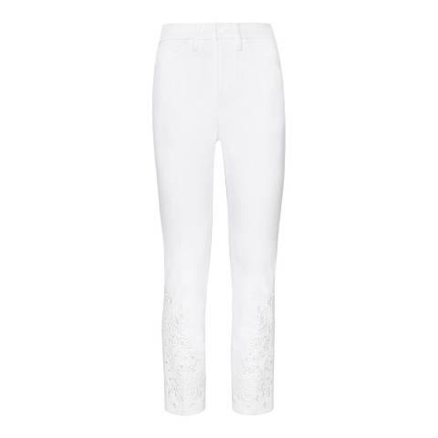 Tory Burch White Keira Skinny Jeans