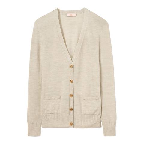 Tory Burch Stone Madeline Relaxed Cardigan