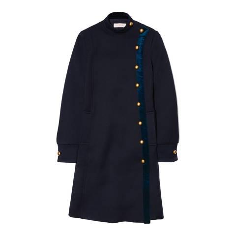 Tory Burch Navy Warren Coat