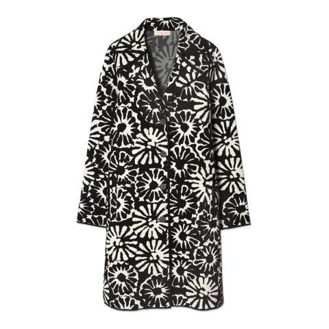 Tory Burch Monochrome Rosalie Jacquard Coat