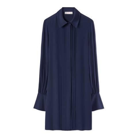 Tory Burch Navy Kaylee Silk Dress