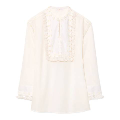 Tory Burch Ivory Lizzie Tunic Top