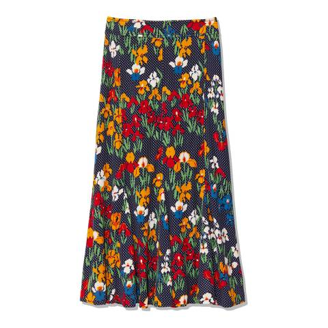 Tory Burch Multi Printed Jersey Skirt